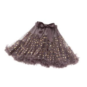 ANGEL'S FACE Dark Grey Twinkle Chiffon Frilled Tutu Skirt