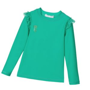 ANGEL'S FACE Girls Jade Green Sun Protection Top
