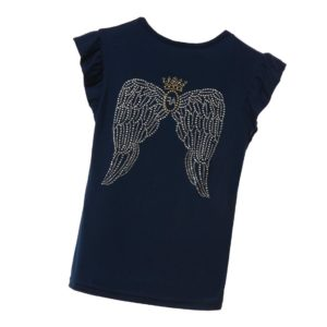 ANGEL'S FACE Girls Navy Blue 'Royal Wings' T-Shirt