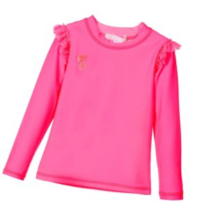 ANGEL'S FACE Girls Neon Pink Sun Protection Top