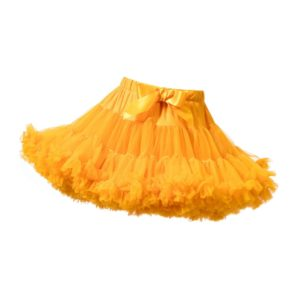 ANGEL'S FACE Marigold Orange Chiffon Frilled Tutu Skirt