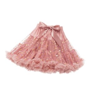 ANGEL'S FACE Tea Rose Pink Twinkle Chiffon Frilled Tutu Skirt