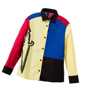 CESARE PACIOTTI Boys Yellow, Blue & Red Cotton Shirt