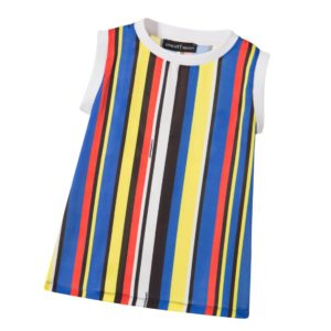 CESARE PACIOTTI Girls Multi-Stripe Tunic Top
