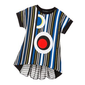 CESARE PACIOTTI Girls Striped Cotton Jersey Tunic Top