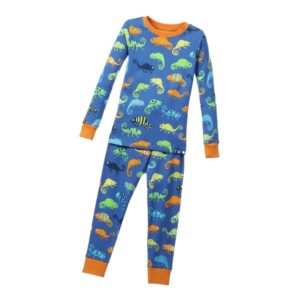 HATLEY Boys Blue 'Chameleon' Cotton Jersey Pyjamas