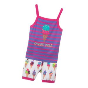 HATLEY Girls 'Ice Cream' Vest & Shorts Pyjamas