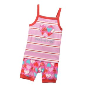 HATLEY Girls Pink 'Heart' Vest & Shorts Pyjamas