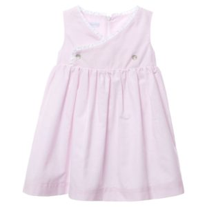 LARANJINHA Pink & White Striped Cotton Dress