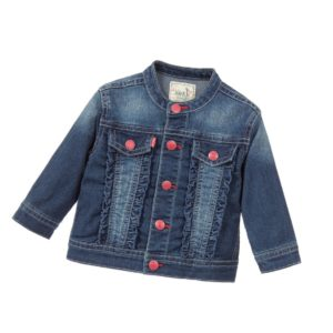 LEVI'S Baby Girls Blue Cotton Denim Jacket