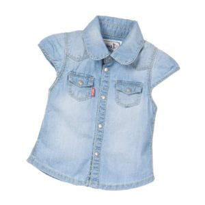 LEVI'S Baby Girls Blue Lightweight Denim Shirt