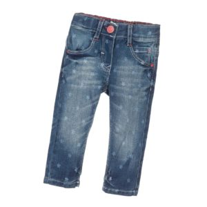 LEVI'S Baby Girls Faded Blue Star Print Denim Jeans