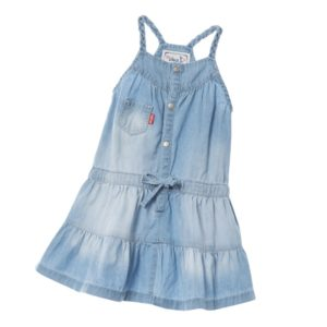 LEVI'S Baby Girls Lightweight Blue Denim Dress