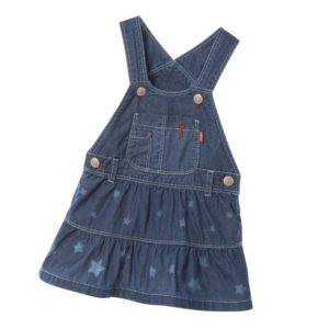 LEVI'S Blue Lightweight Denim Pinafore Dress