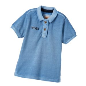 LEVI'S Boys Blue Denim Look Polo Shirt