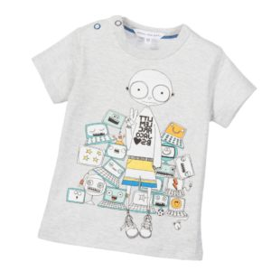 LITTLE MARC JACOBS Baby Boys Grey Mr Marc 'Video Game' T-Shirt