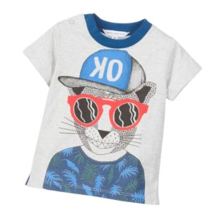 LITTLE MARC JACOBS Baby Boys Grey 'Skate Avenue' Print T-Shirt