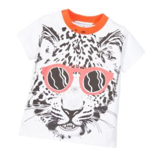 LITTLE MARC JACOBS Baby Boys White Leopard Print T-Shirt