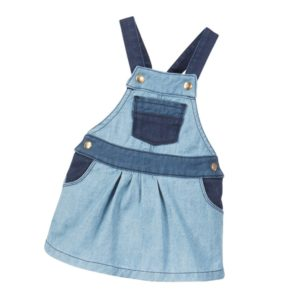 LITTLE MARC JACOBS Baby Girls 2-Tone Blue Denim Pinafore Dress