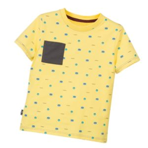 LITTLE MARC JACOBS Boys Yellow Printed T-Shirt with Pocket
