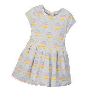 LITTLE MARC JACOBS Grey 'Venice Beach' Printed Dress