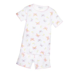 MAGNOLIA BABY Girls 'Butterfly Kisses' Soft Pima Cotton Pyjamas