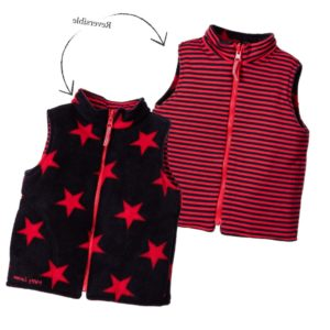 MITTY JAMES Blue & Red Reversible Padded Gilet