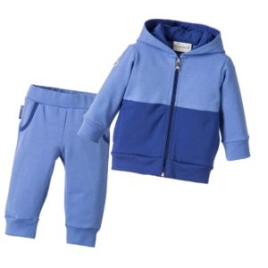 MONCLER Baby Boys Blue Cotton Logo Tracksuit