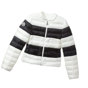 MONCLER Girls Black & Ivory Down Padded 'Gracianne' Jacket