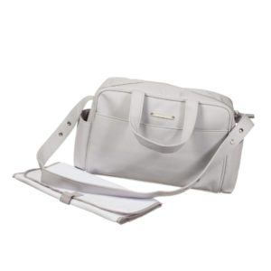 PASITO A PASITO Grey Dotty Baby Changing Bag & Mat