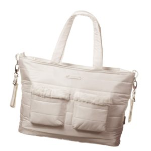 PASITO A PASITO Ivory Quilted Baby Changing Bag