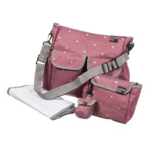 PASITO A PASITO Pink Stars 4 Piece Baby Changing Bag Set