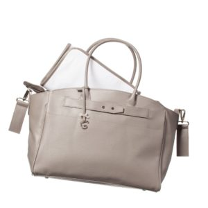PASITO A PASITO Taupe Baby Changing Bag & Mat with Swarovski