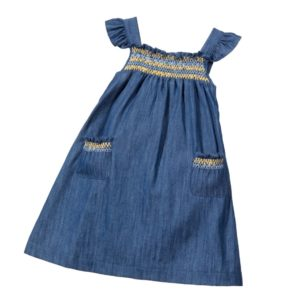 PATACHOU Dark Blue Chambray Sun Dress