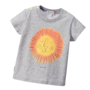 PAUL SMITH JUNIOR Baby Boys Grey Marl Lion T-Shirt