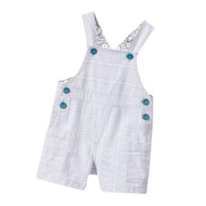 PAUL SMITH JUNIOR Baby Boys Grey Stripe 'Loevan' Dungarees