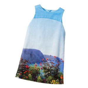 PAUL SMITH JUNIOR Blue 'Lenna' Coast & Flowers Print Dress
