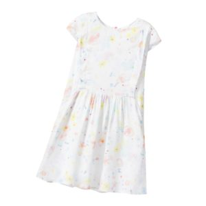 PAUL SMITH JUNIOR White Floral Viscose 'Line' Dress