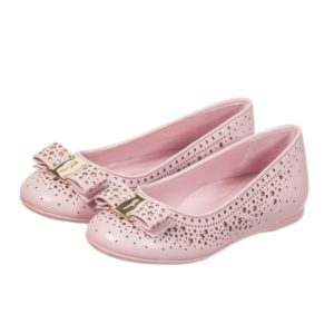 SALVATORE FERRAGAMO MINI Girls Pink & Gold Star Leather 'Varina' Shoes