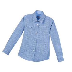 SARABANDA Boys Blue Pattern Shirt with Handkerchief