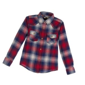 SARABANDA Boys Red & Blue Checked Cotton Shirt