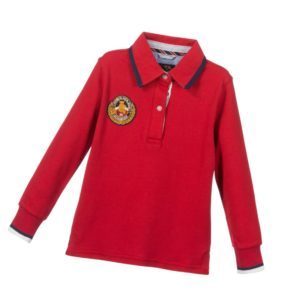 SARABANDA Boys Red Cotton Polo Shirt