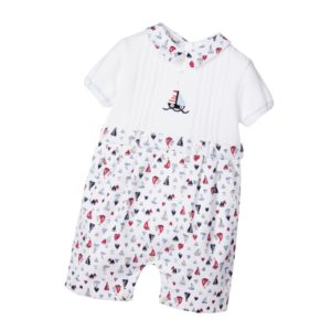 SARAH LOUISE Baby Boys Nautical Cotton Knit Shortie