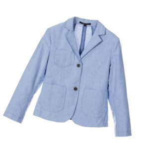 SILVIAN HEACH Boys Pale Blue Cotton Jersey Blazer