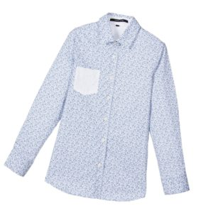 SILVIAN HEACH Boys White & Blue Floral Cotton Shirt