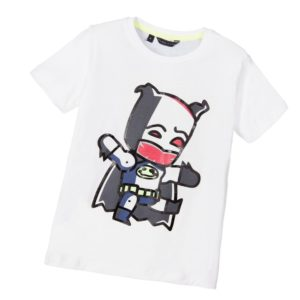SILVIAN HEACH Boys White Cartoon Superhero T-Shirt
