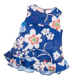 SIMONETTA MINI Girls Blue Floral Chiffon Blouse