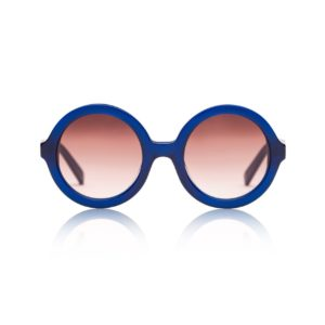 SONS + DAUGHTERS Navy Blue Round 'Lenny' Sunglasses