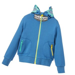 STELLA MCCARTNEY KIDS Boys Blue 'Bandit' Hooded Zip-Up Top