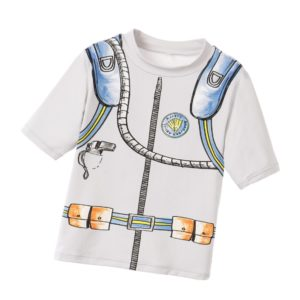 STELLA MCCARTNEY KIDS Boys Gray Sun واقية 'Splash' Top